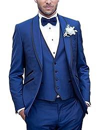 Suit Me 3-piezas de juego de los hombres del novio partido smoking de la boda adapta a la chaqueta, chaleco, pantalones