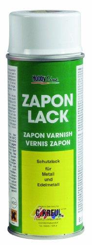 Kreul 840400 - Zapon Lack, wasserheller Nitro Kombilack, Schutzfilm der auf Metallflächen Mattwerden, Verfärbungen und Korrosion verhindert, für Innen und Außen geeignet, 400 ml Spraydose