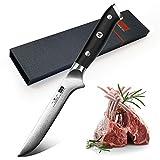 SHAN ZU Ausbeinmesser 15cm Profi Damaskus Edelstahl Fleischmesser Küchenmesser Messerklinge mit Ergonomischer Griff Exquisiter Geschenkverpackung