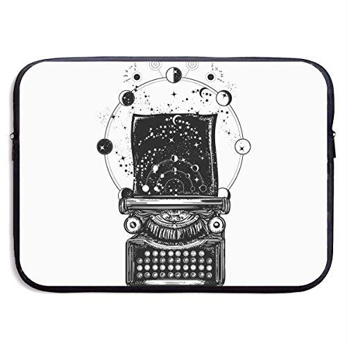 Benutzerdefinierte Laptop-Hülle 13/15 Zoll Ultrabook Reißverschluss Aktentasche Astronomical Galaxies Print Portable Messenger Bag, 15 Zoll (Print Bag Messenger Galaxy)