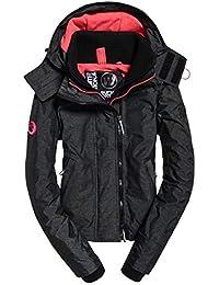 Superdry Damen Sportjacke Arctic Hooded Pop Zip Windchea