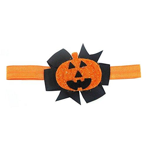 UJUNAOR Baby Kinder Mädchen Kürbis Haarnadel Kopfschmuck Mode Halloween Stirnband(Schwarz,Einheitsgröße)