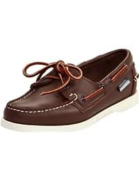 Sebago mujer's Docksides Boat zapatos,marrón Elk,10 M US