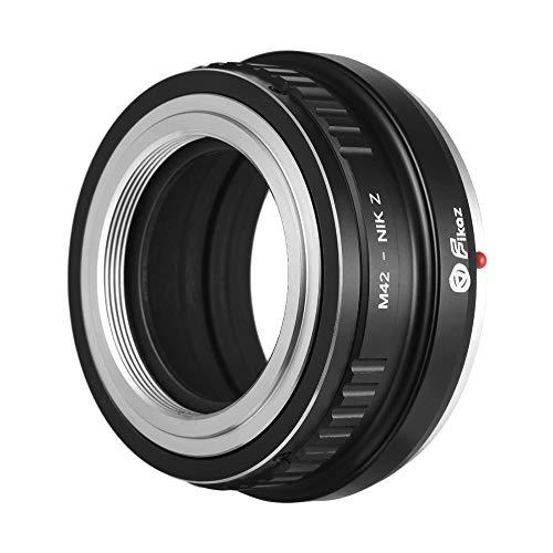 Leslaur fikaz adattatore per obiettivo ad alta precisione anello in lega di alluminio per obiettivo con attacco m42 per nikon z6 z7 fotocamera senza specchio per montaggio a z m42-nikz