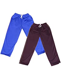 IndiWeaves Girls Premium Cotton Warm Full Length Lower/Track Pant For Winter with 2 Open Pocket (Pack of 2)