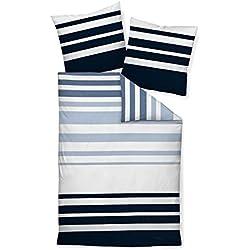 Janine Design Mako-Satin Bettwäsche J.D. 87028-02 blau 135x200 cm + 80x80 cm