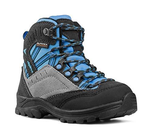 d.o.o. Alpina Wanderschuhe, Wanderstiefel, Trekkingstiefel Unisex in blau/grau mit Rutschfester Sohle (38 EU)