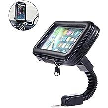 ALLCACA Supporto per Telefono Cellulare Girevole a 360 ° Impermeabile con Custodia, Nero