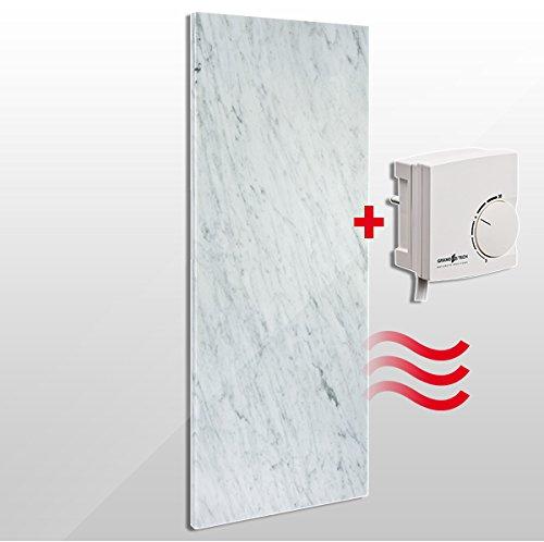 Granotech® Marmor-Infrarotheizung / 800 Watt Carrara Komplettpaket