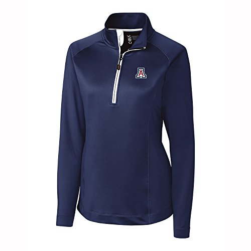 NCAA Damen Jackson Half Zip overknit, Damen, NCAA Women's Jackson Half Zip Over Knit Tee, navy, XX-Large