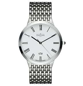 Davosa Herren-Armbanduhr Analog Edelstahl weiss 16346022