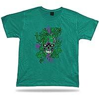 Tshirt Tee Shirt regalo di compleanno di idea del veleno teschio Bleeding piante verdi nocive
