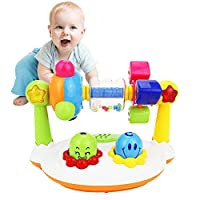 Toddler Musical Toys, Womdee Baby Walker Toy with Music and Flash Lights Multifunctional Rotating Rattle Toys Preschool Educational Early Learning Toys Musical Toys for Boys and Girls