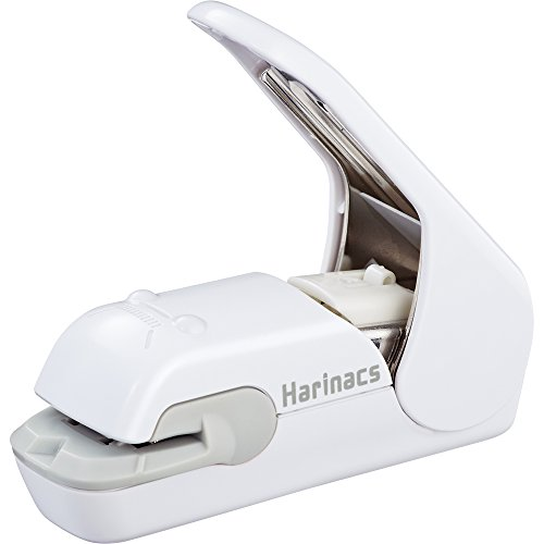 Kokuyo Harinacs Press Staple-free Stapler; With this Item, You Can Staple Pieces of Paper Without Making Any Holes on Paper(White) - Weiße Klammer Gesetzt