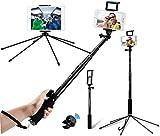 Gimars Selfie Stick mehr stabil Sechsbeine Stativ mit Bluetooth-Fernauslöser bis zu 150cm Verlängerbar Selfie-Stangen für iPad Air Mini iphone 8 Plus 8 6 6s 7 plus Samsung Galaxy S6 S7 Edge S8 usw.
