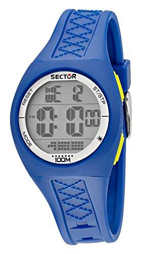 Street Fashion Sector sin límites para hombre Coronado controls reloj infantil de cuarzo con pantalla Digital y azul correa de silicona R3251583002