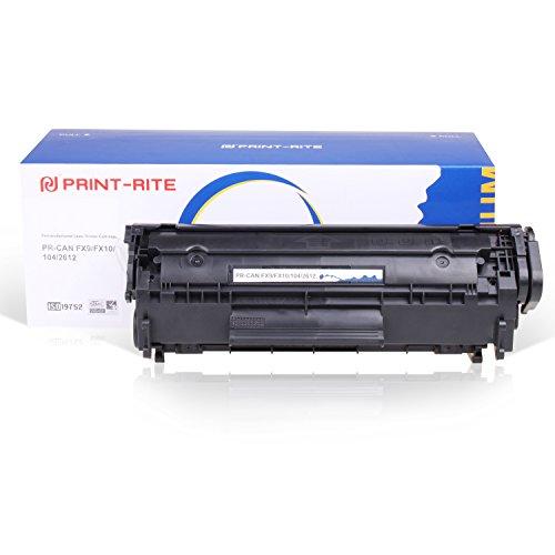 Print-Rite Q2612a 12a FX10 703 Cartucho de tóner para impresoras HP Laserjet 1010 1012 1015 1018 1020 1022 1022n 1022nw 3015 3020 3030 3050 3050z 3052 3055 M1319f M1005 MFP, Canon LBP2900 3000