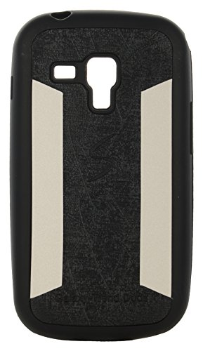 iCandy™ 2 Color Soft Lather Finish Back Cover For Samsung Galaxy S Duos S7562 / S7582 - Black  available at amazon for Rs.115