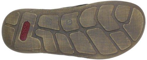 Rieker 22081, Sandales homme Marron (Tabak/Schwarz 25)