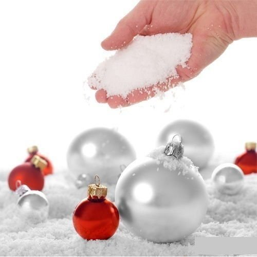 20g Instant Fake Snow for Home Christmas Decorations - Winter Prop for Movie Special Effects, Indoor Snow Venues and Shop Fronts - Artificial White Flakes for Holidays and Parties
