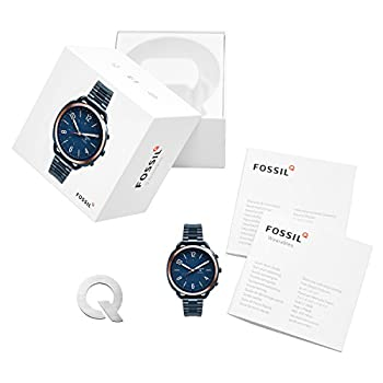 Fossil Q Accomplice Navy Blue Stainless Steel | Analogue Women's Hybrid Smartwatch Android & Ios Compatible | Bluetooth Technology - Activity & Sleep Tracking, Smartphone Notifications 3