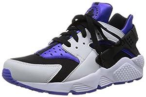 Nike Air Huarache, Herren Kurzschaft Stiefel, White / Black / Violet, 42.5 EU
