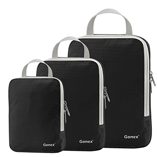 Gonex - 3 Packs Organizador Maleta Bolsas Portátiles para Ropa Bolsas
