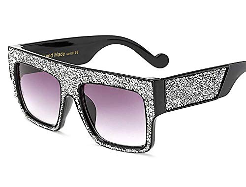 Wghz Big-Box-Sonnenbrille/cool Coole Sonnenbrille Strass-Sonnenbrille