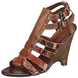 Sandalette von VIA UNO Leder in Camel Gr. 40