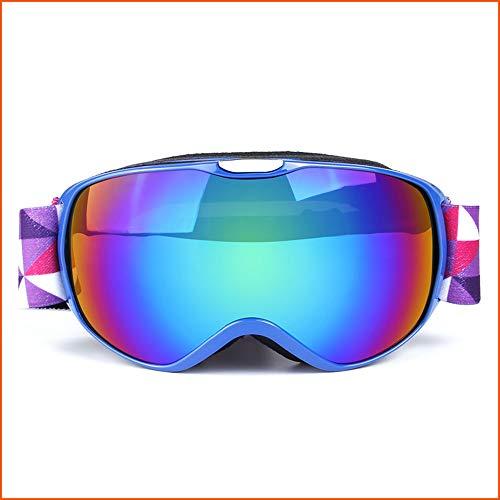 ZYSMC Gafas De Esquí, Gafas De Snowboard para La Protección De Adultos Y Anti-Niebla-Doble Lente Esférica Gris Cómodo para Días Soleados Y Nublados Esquiar Motos De Nieve De Esquí,3