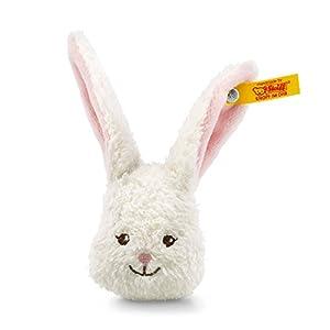 Steiff 109218 Conejo de Juguete Felpa, Sintético Blanco Juguete de Peluche - Juguetes de Peluche (Conejo de Juguete, Blanco, Felpa, Sintético, Conejo, Niño/niña, 30 °C)