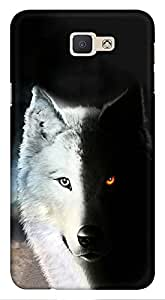 Blutec Wolf Design 3D Printed Hard Back Case Cover for Samsung Galaxy On Nxt