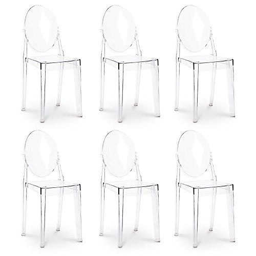 Sedie Victoria Ghost ispirate a Philippe Starck x6