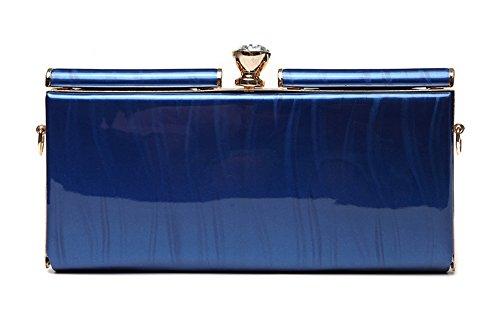 Borsa, sacchetto, pacchetto, piccolo pacchetto, sacchetto di busta di grande capacità, pacchetto banchetto di cena ( Colore : Nero ) Blu zaffiro