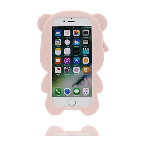 iPhone 7 Plus Custodia, iPhone 7 Plus Copertura 5.5, TPU durevole Case Cartoon 3D Cover & penna di tocco - Cartoon Pig maiale orso bear Cute / Flessibile / alla moda / resistente alla polvere # 5
