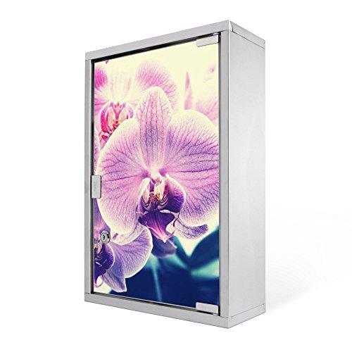 #Medizinschrank groß Edelstahl abschliessbar 30x45x12cm Arzneischrank Medikamentenschrank Hausapotheke Erste Hilfe Schrank Motiv Orchidee Vintage#