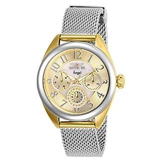Invicta 27452 Angel Reloj para Mujer acero inoxidable Cuarzo Esfera oro