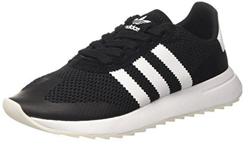 adidas Damen Flashback Sneaker Low Hals, Schwarz, 38 EU Schwarz (Core Black/ftwr White/core Black)