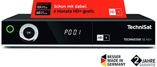 TechniSat TECHNISTAR S6 HD+ HDTV Sat-Receiver (HD+ integriert mit 6 Monate Guthaben, PVRready, Aufnahmefunktion, HDMI, Ethernet, USB, S/PDIF Out)