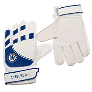 Childrens Chelsea Fc Goalkeeper Gloves Yths 10-12 Yrs
