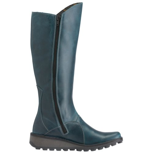 Fly London Mol Leather, Damen Stiefel Grün (Petrol)