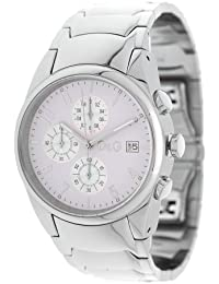 D&G Dolce&Gabbana Sandpiper 3719770110 - Reloj cronógrafo de cuarzo para hombre, correa de acero inoxidable chapado color plateado (cronómetro)
