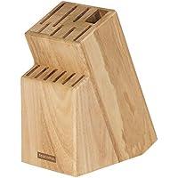 Tescoma Block Woody für 13 Messer und Schere/Wetzstahl, Holz, Beige, 16.8 x 10 x 21 cm
