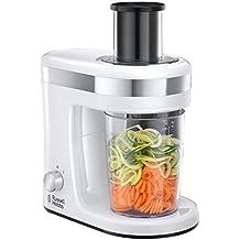 Russell Hobbs Ultimate - Cortador eléctrico de verduras y fruta en espiral (espiralizador),