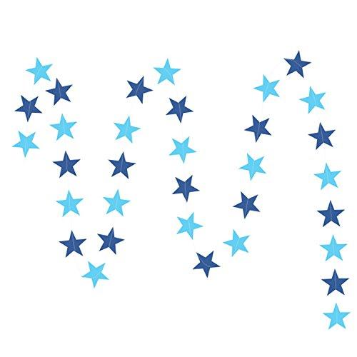 Trixes Girlande mit Blauen Sternen Weihnachten Dekoration Festlich Wimpel