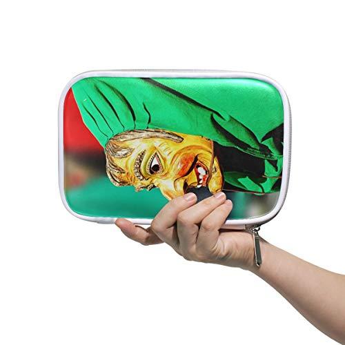 Montoj Karneval Hexe Kleid Up Muster Make-up Pinsel Tasche Federtasche Federmappe mit Reißverschluss Große Kapazität Stifte-Organizer