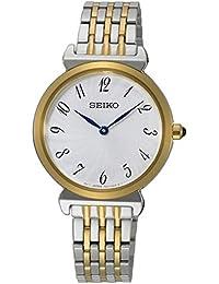 Seiko Reloj Analógico para Mujer de Cuarzo con Correa en Acero Inoxidable Macizo SFQ800P1