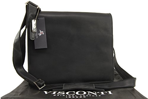 Borsa a tracolla Messenger Visconti - Hunter - 16025 Olio Nero