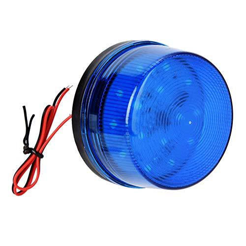 12V Blau Alarmsignal, Blaue LED Strobe Beacon Alarm Blinklicht ohne Ton Explosionsgeschützt Kann im Bereich des Home Security Alarm Systems verwendet Werden