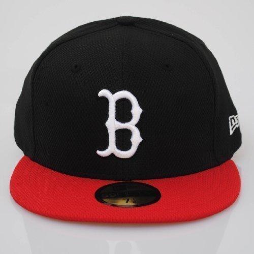 New Era 59fifty Boston Red Sox Diamond Era Pop Black Red Fitted Hat Cap